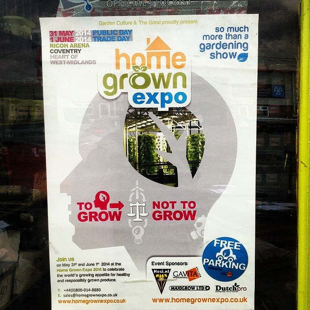Home grown expo free tickets from hg hydroponics 29th for Indoor gardening expo 2014