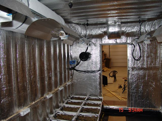 Container Grow Room 12 X 600w Air Cooled Custom Built Grow Room