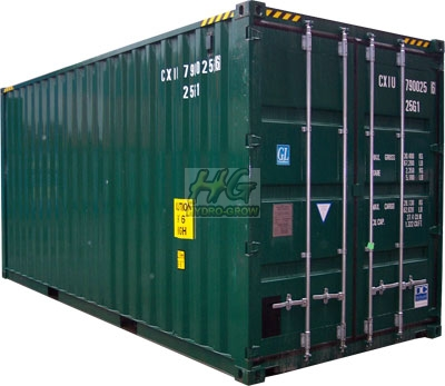 Hydroponics Shipping Container Grow Room.  12 x 600w Air Cooled.