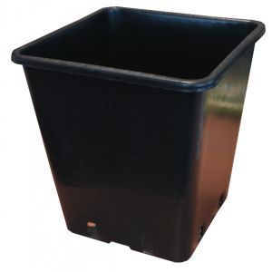 11 litre black square plant pot