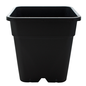 18 litre black square plant pot - PREMIUM