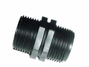 3/4'' BSP Male to 3/4'' BSP Male - Black