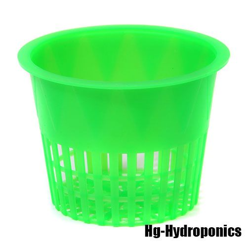 Alien Green Plastic Net Pot - 100mm