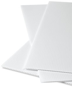 Corex Corrugated plastic sheets White