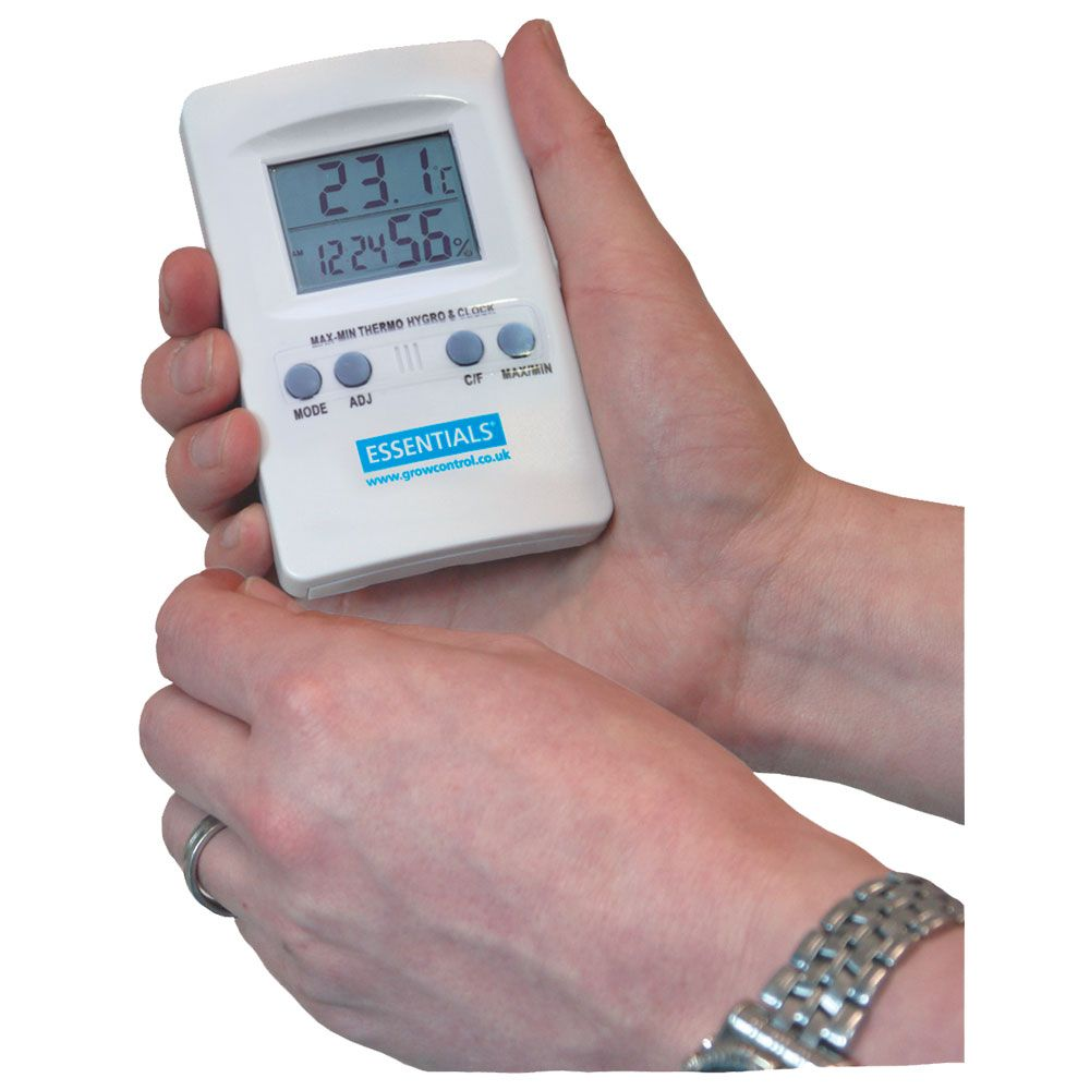 Essentials Digital Thermometer & Humidity Meter -  Hygrometer