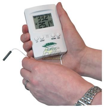 Hydrogarden Combined Nutrient & growroom thermometer