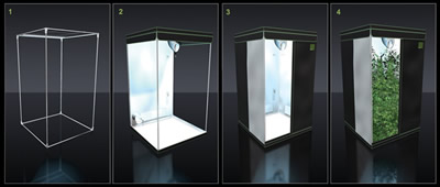 The heavy duty zips combined with exterior light baffles provide a secure lightproof and lockable grow room that can be discreetly used. & Budbox Grow tent TITAN 2